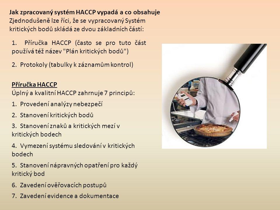 Jak zpracovaný systém HACCP vypadá a co obsahuje