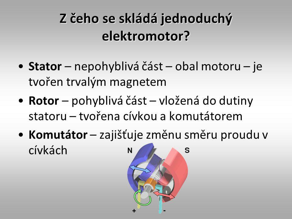 Z čeho se skládá jednoduchý elektromotor