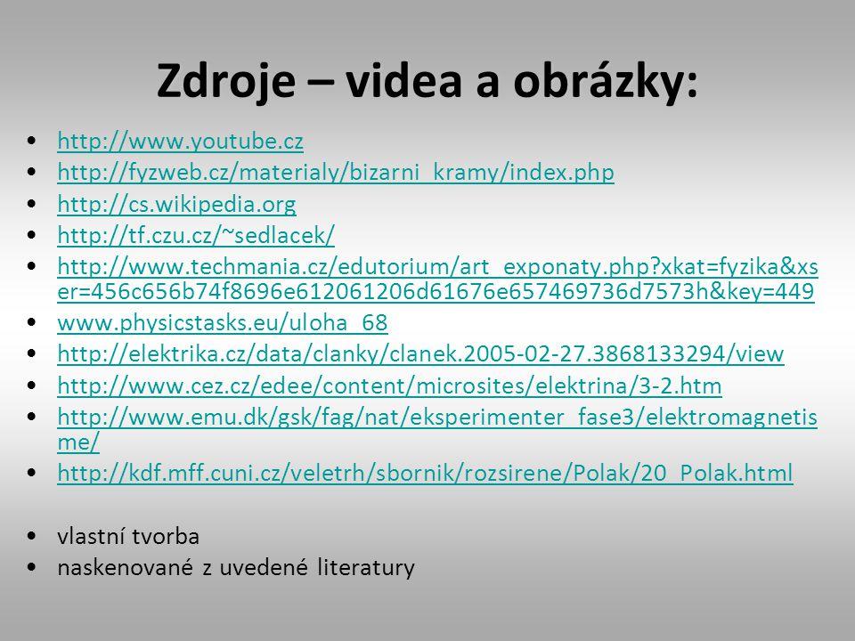 Zdroje – videa a obrázky: