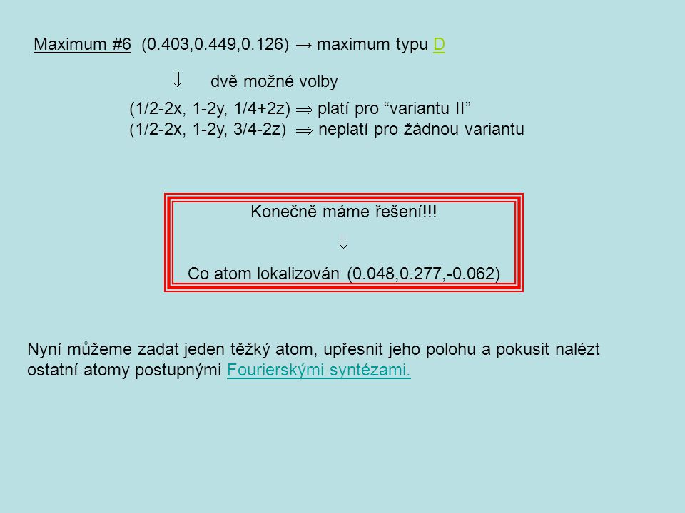 Co atom lokalizován (0.048,0.277,-0.062)