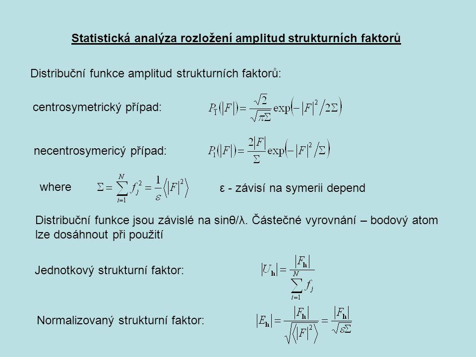 Statistická analýza rozložení amplitud strukturních faktorů