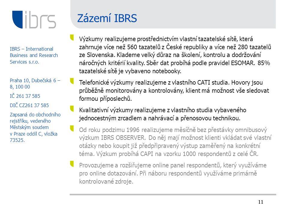 Zázemí IBRS