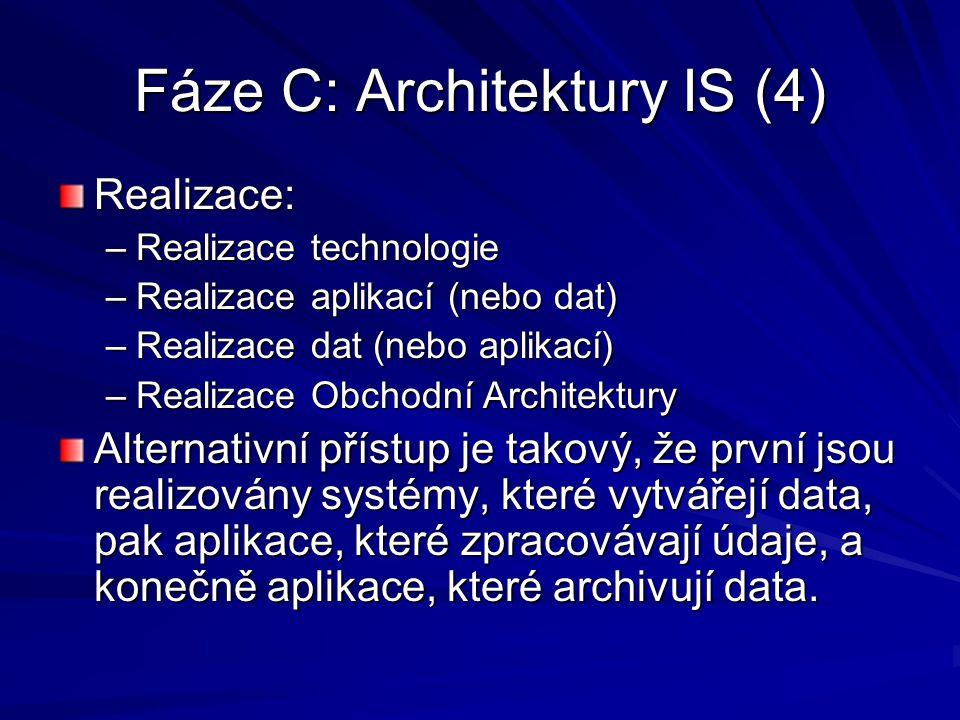 Fáze C: Architektury IS (4)