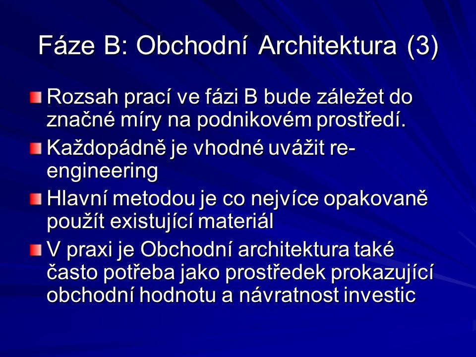 Fáze B: Obchodní Architektura (3)