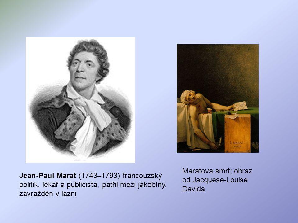 Maratova smrt; obraz od Jacquese-Louise Davida