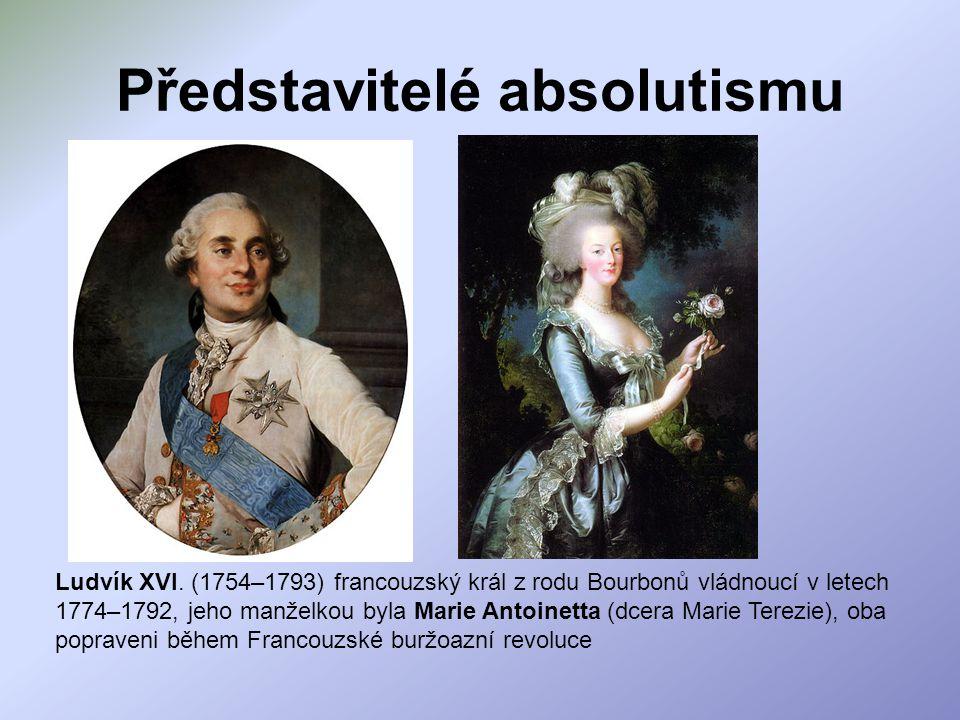 Představitelé absolutismu
