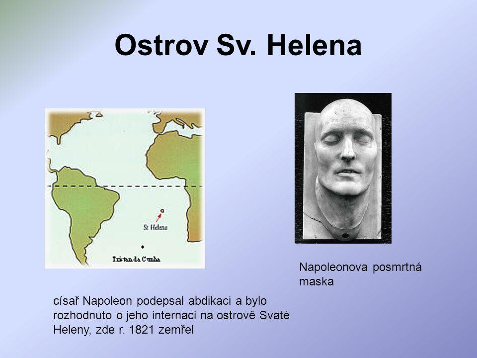 Ostrov Sv. Helena Napoleonova posmrtná maska