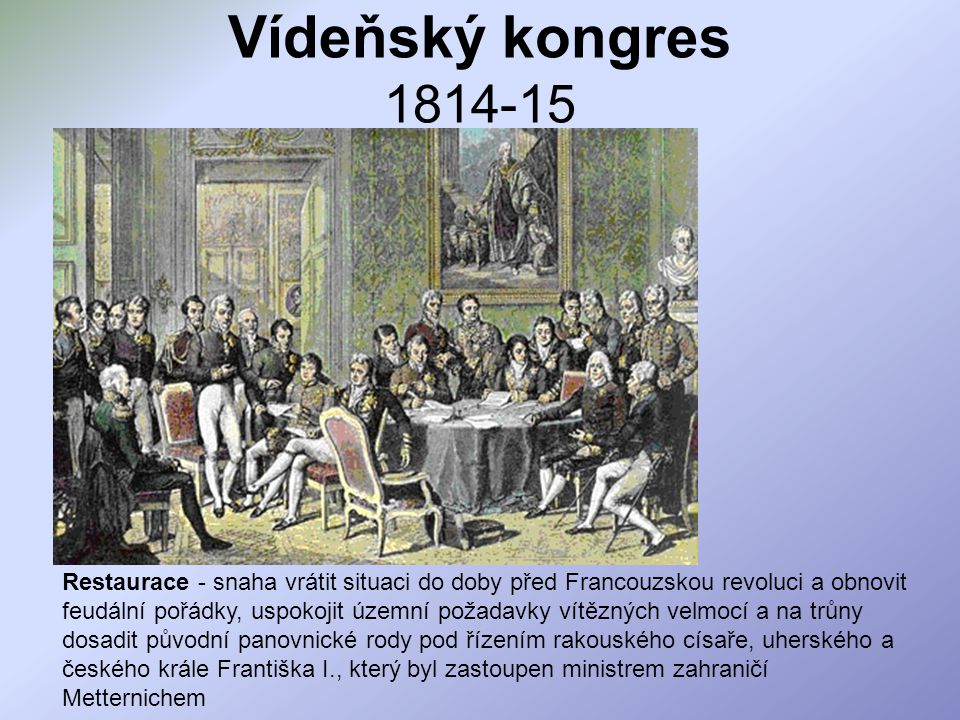 Vídeňský kongres 1814-15