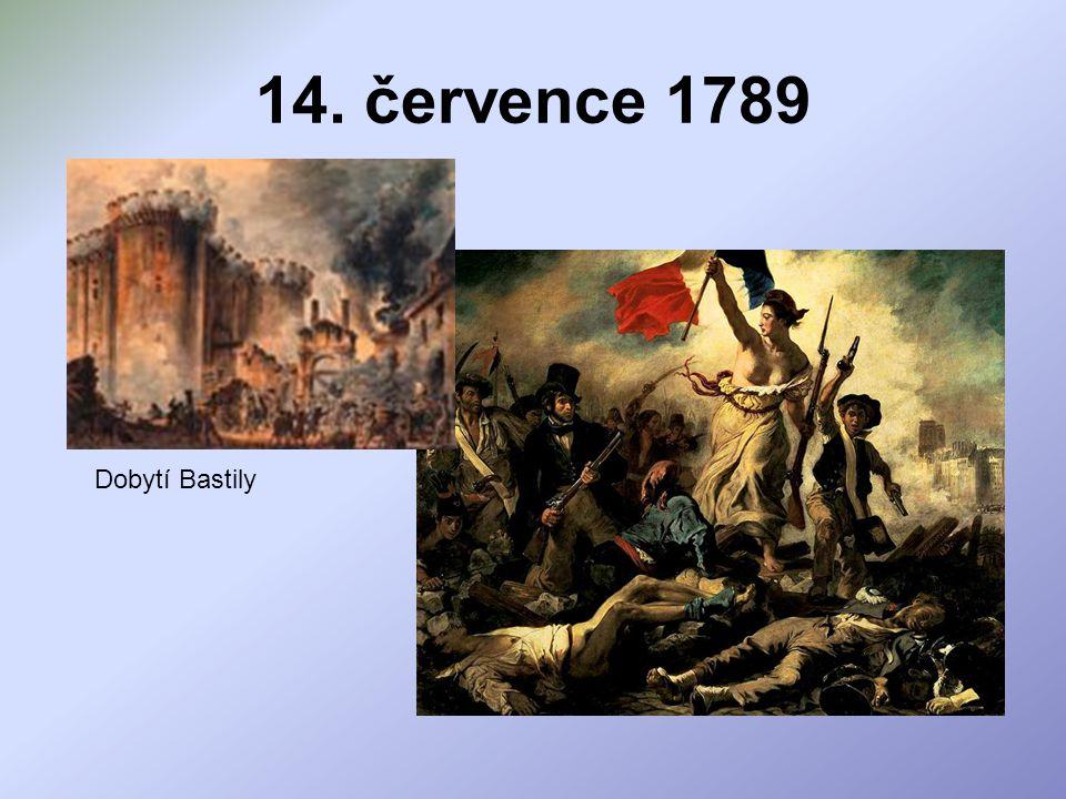 14. července 1789 Dobytí Bastily