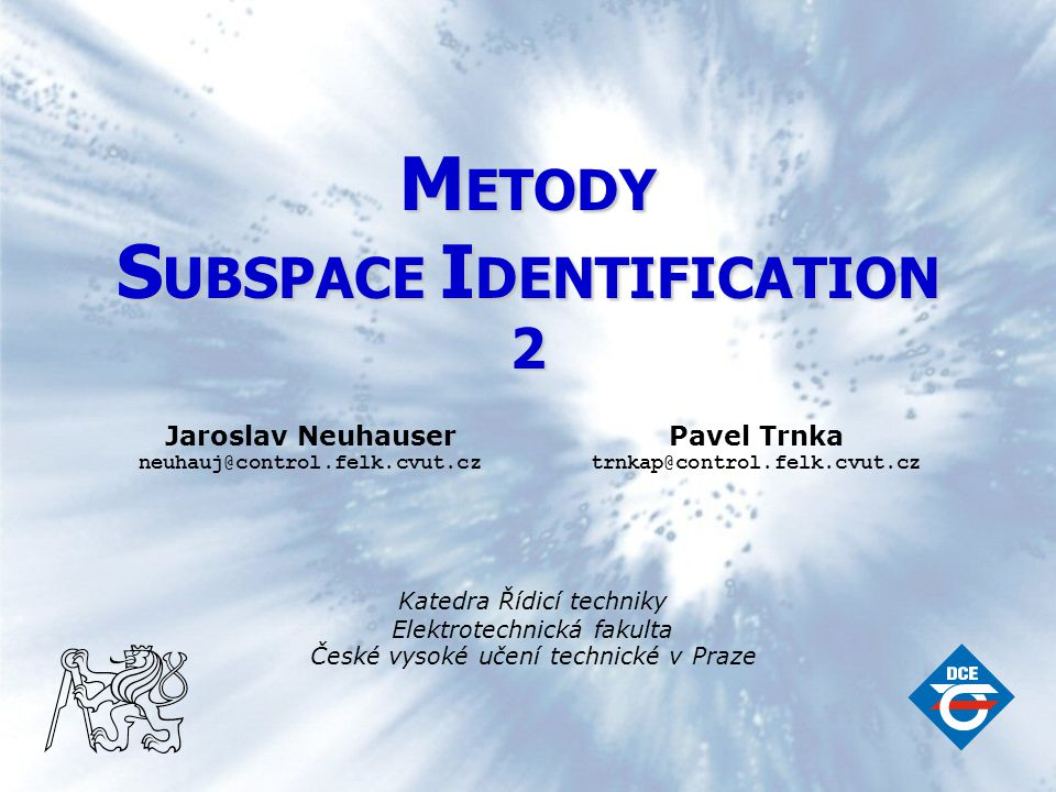 SUBSPACE IDENTIFICATION
