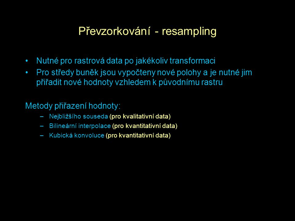 Převzorkování - resampling