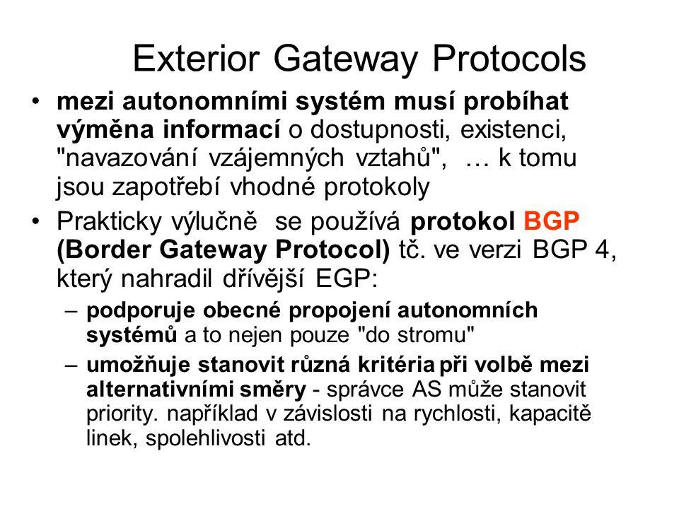 Exterior Gateway Protocols