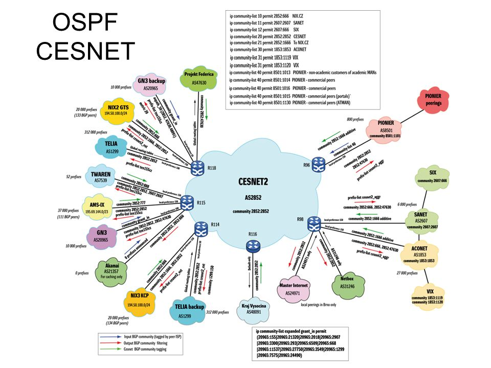 OSPF CESNET