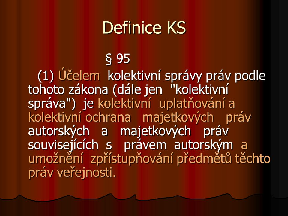 Definice KS § 95.