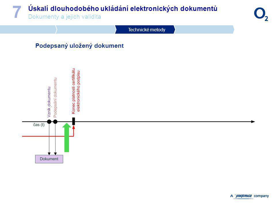 7 Úskalí dlouhodobého ukládání elektronických dokumentů Dokumenty a jejich validita. Technické metody.