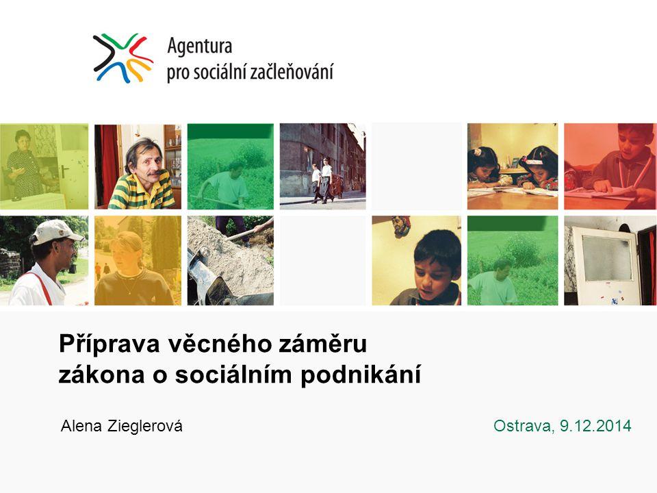 Příprava věcného záměru zákona o sociálním podnikání