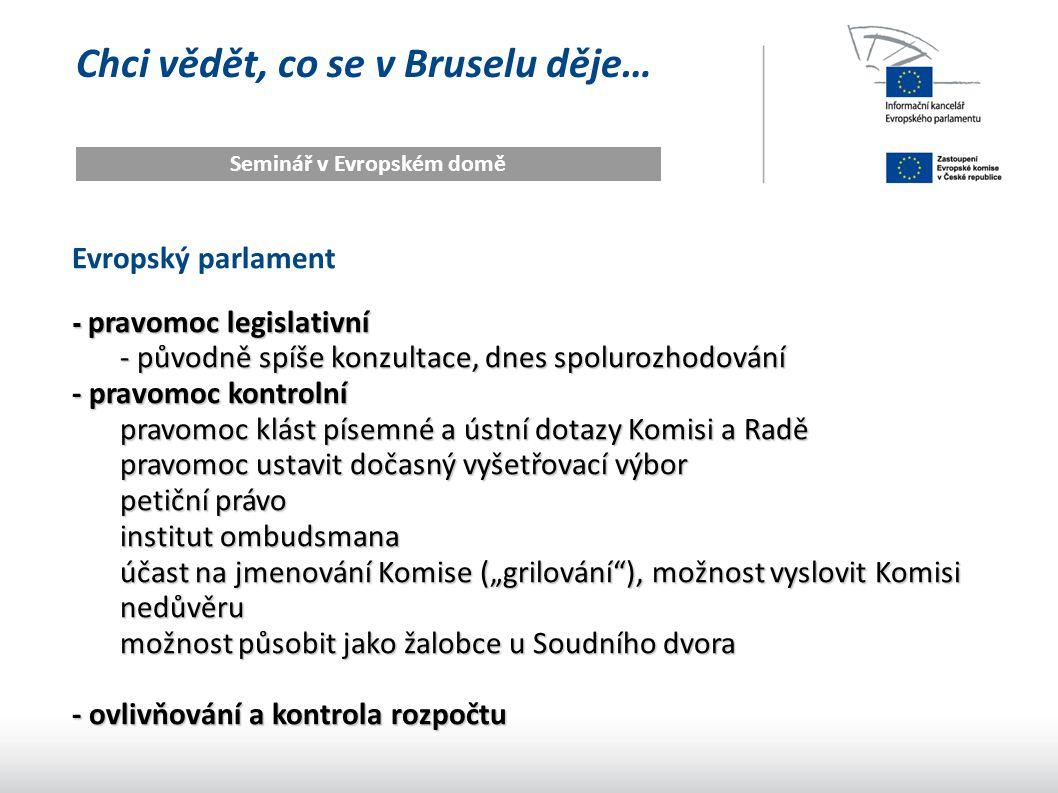 Seminář v Evropském domě