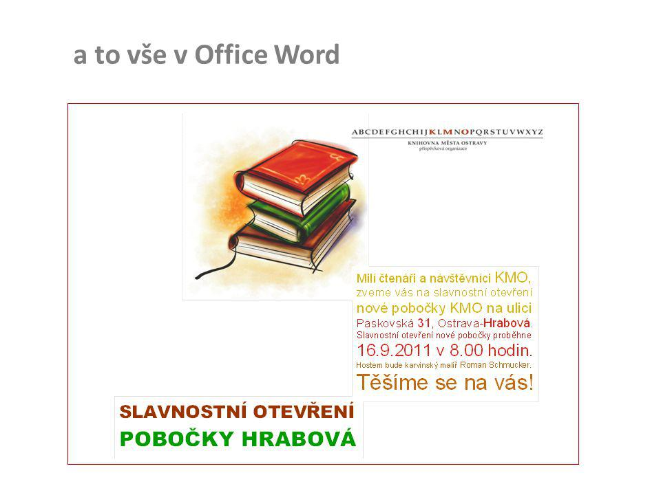 a to vše v Office Word
