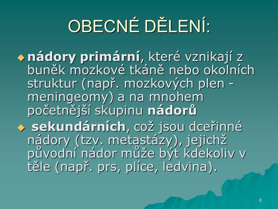 OBECNÉ DĚLENÍ: