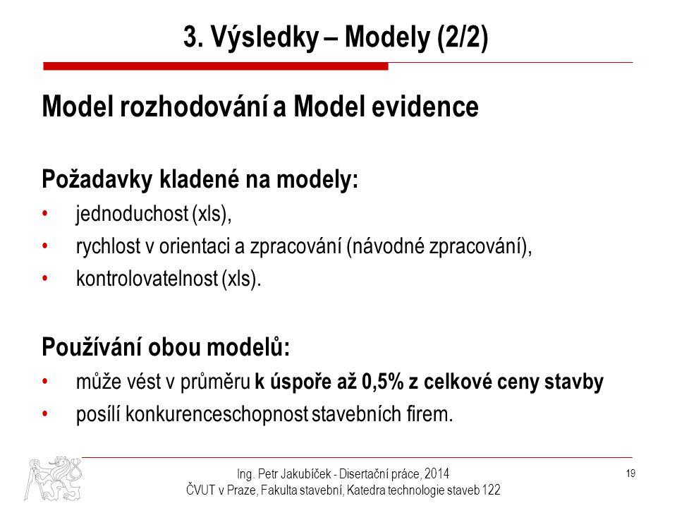 Model rozhodování a Model evidence