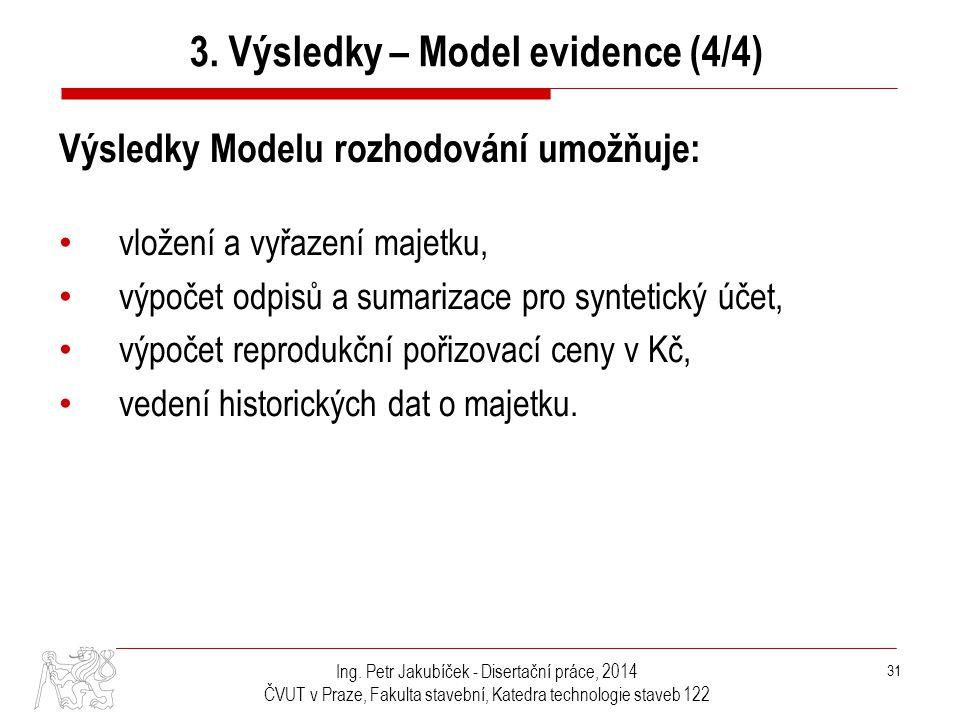 3. Výsledky – Model evidence (4/4)