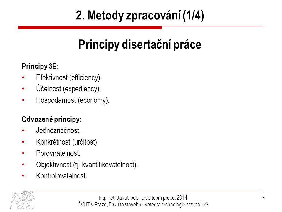 Principy disertační práce