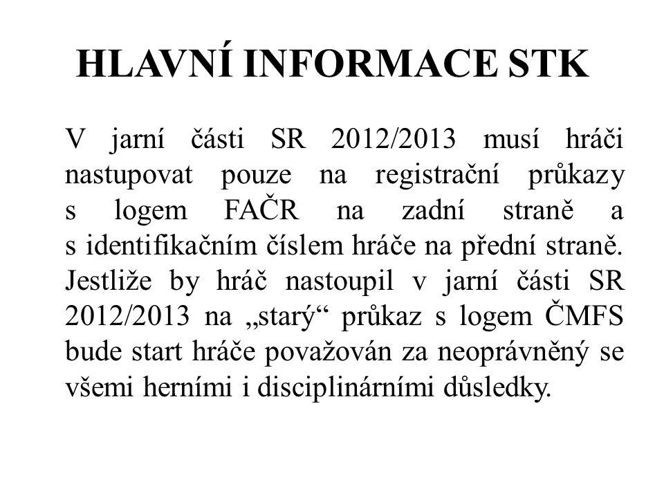 HLAVNÍ INFORMACE STK