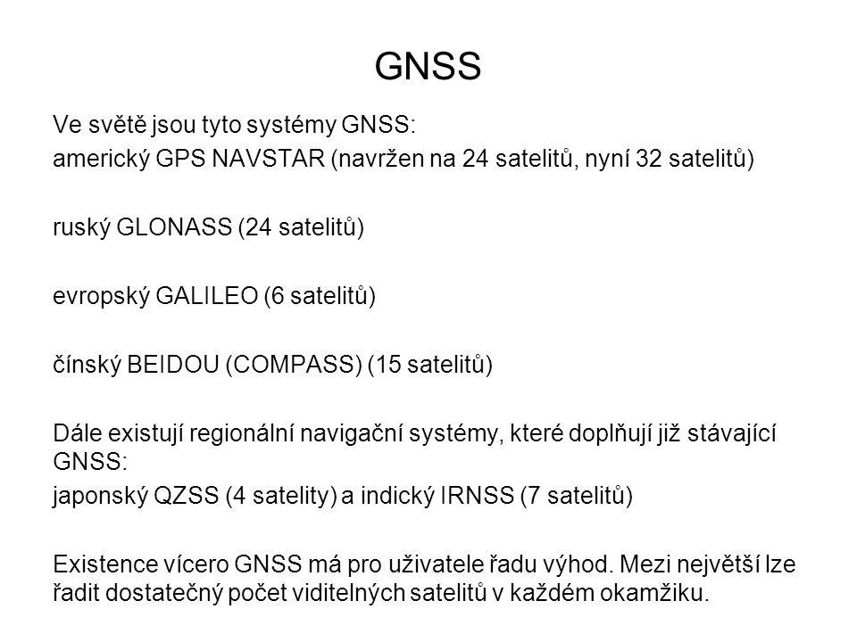GNSS Ve světě jsou tyto systémy GNSS: