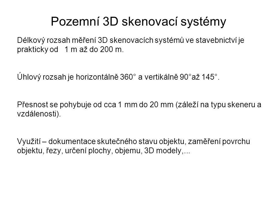 Pozemní 3D skenovací systémy