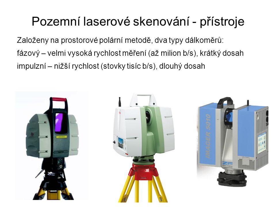 Pozemní laserové skenování - přístroje