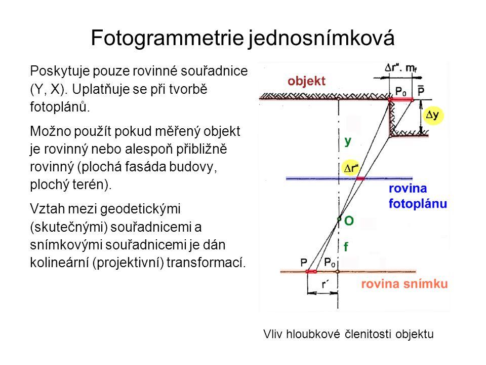 Fotogrammetrie jednosnímková
