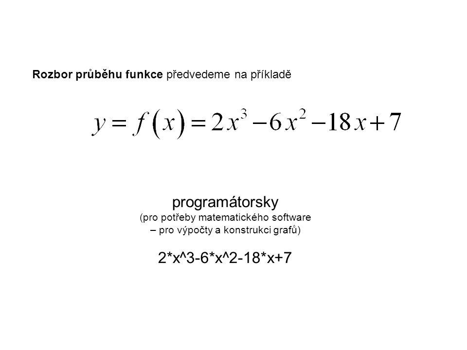 programátorsky 2*x^3-6*x^2-18*x+7