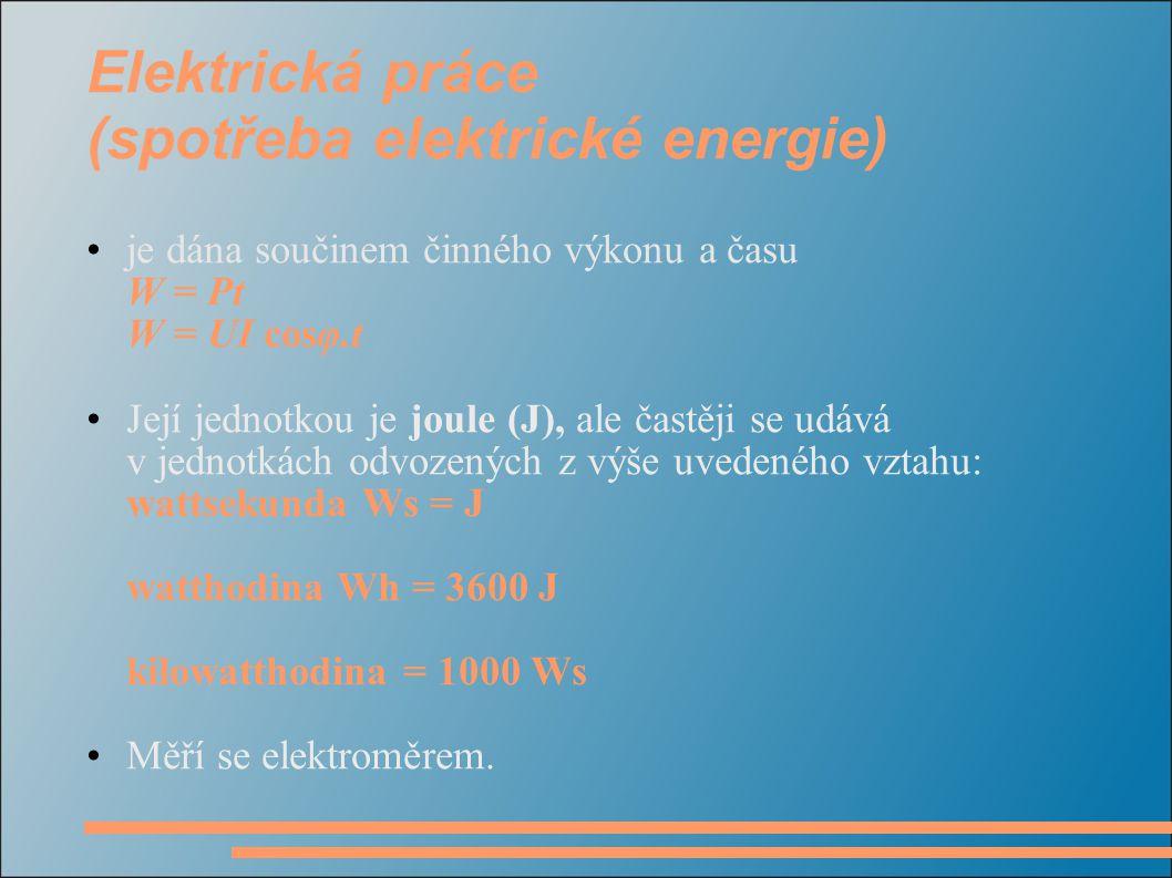 Elektrická práce (spotřeba elektrické energie)
