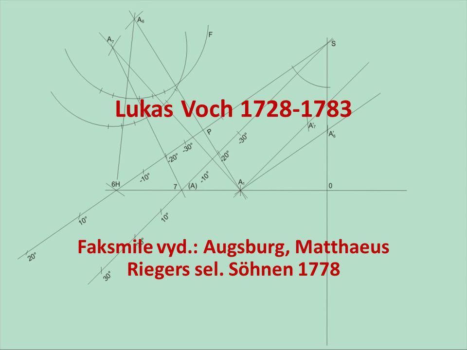 Faksmile vyd.: Augsburg, Matthaeus Riegers sel. Söhnen 1778