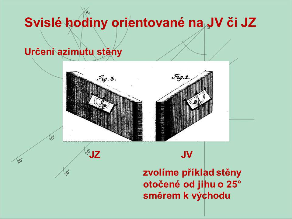 Svislé hodiny orientované na JV či JZ