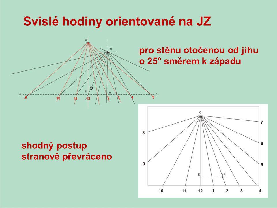 Svislé hodiny orientované na JZ