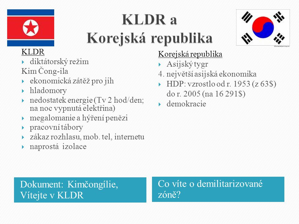 KLDR a Korejská republika
