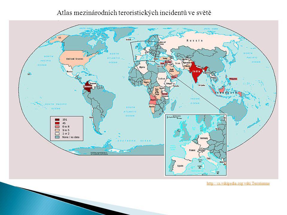Atlas mezinárodních teroristických incidentů ve světě