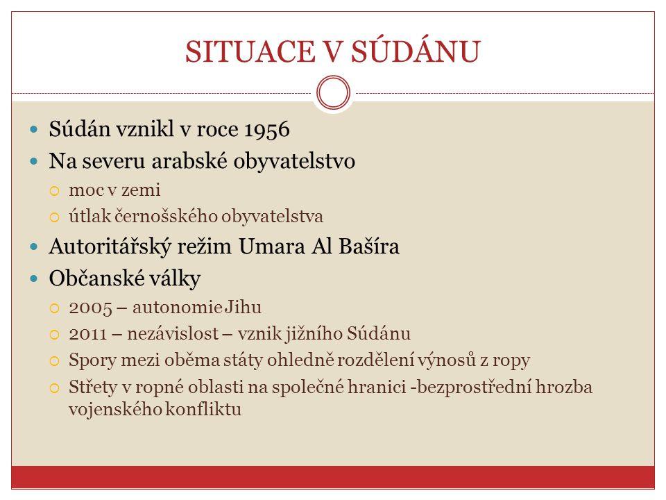 SITUACE V SÚDÁNU Súdán vznikl v roce 1956