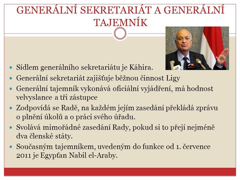 GENERÁLNÍ SEKRETARIÁT A GENERÁLNÍ TAJEMNÍK