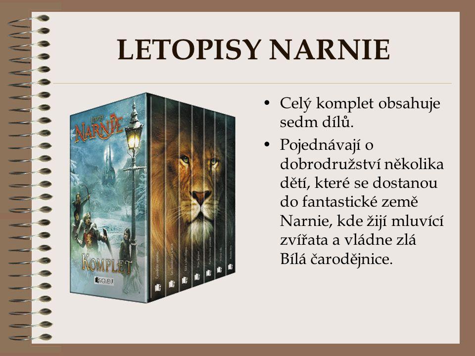 LETOPISY NARNIE Celý komplet obsahuje sedm dílů.