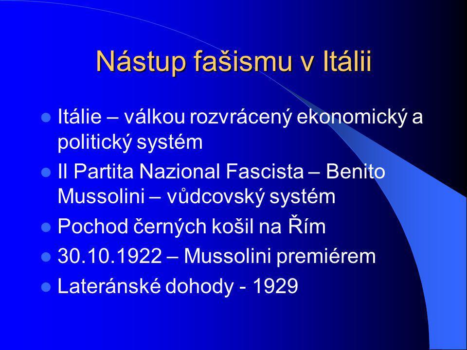 Nástup fašismu v Itálii