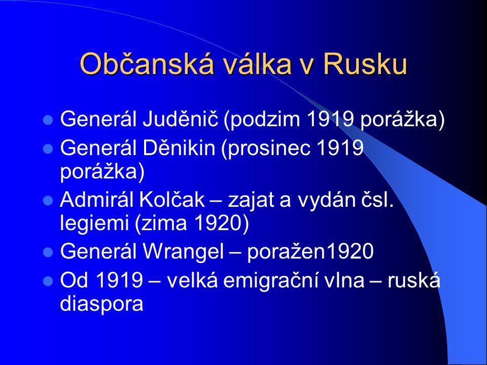 Občanská válka v Rusku Generál Juděnič (podzim 1919 porážka)
