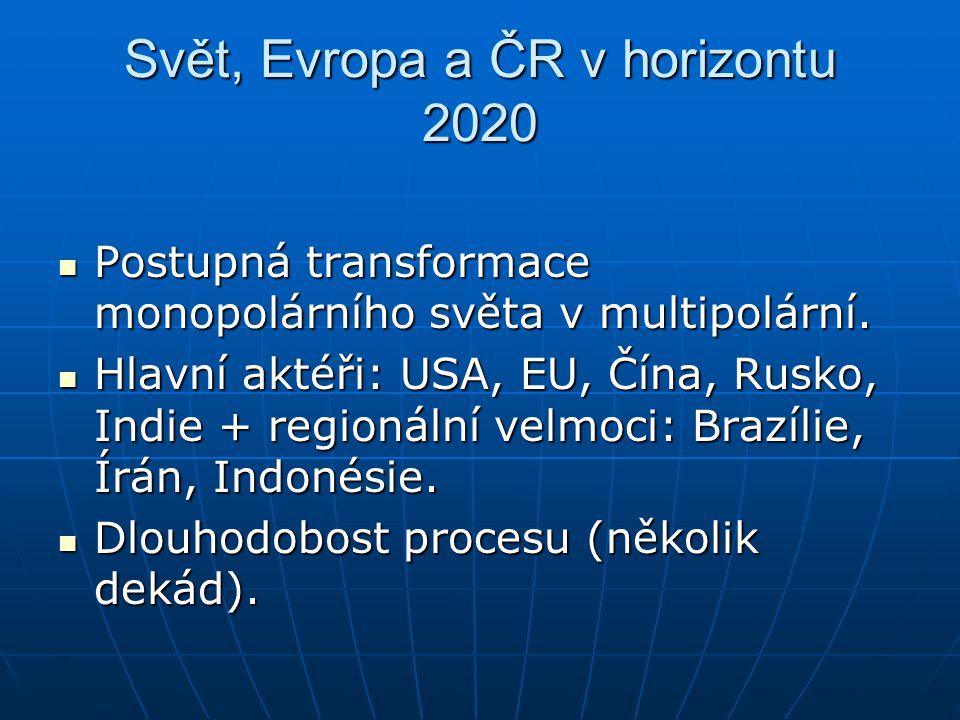 Svět, Evropa a ČR v horizontu 2020