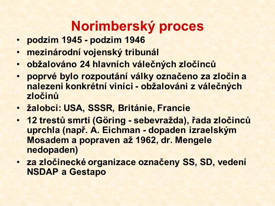 Norimberský proces podzim 1945 - podzim 1946