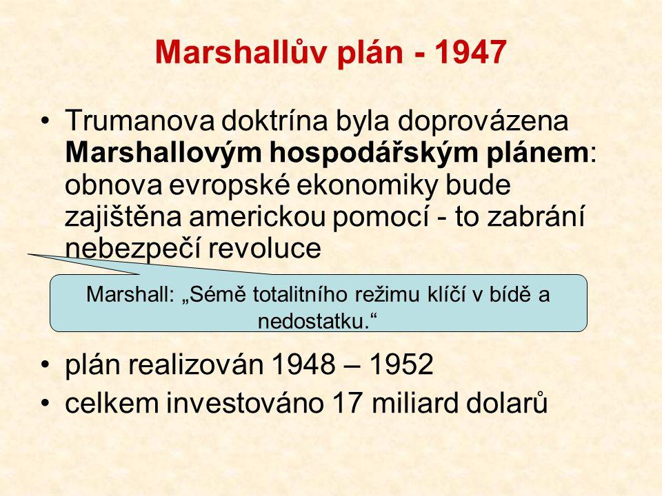"""Marshall: """"Sémě totalitního režimu klíčí v bídě a nedostatku."""