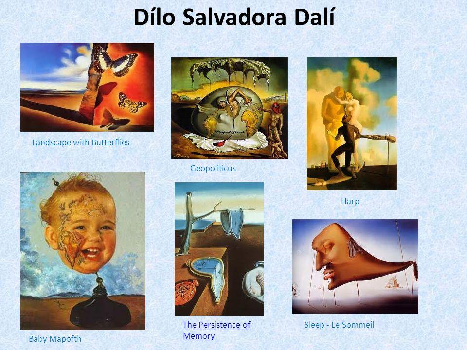 Dílo Salvadora Dalí Landscape with Butterflies Geopoliticus Harp