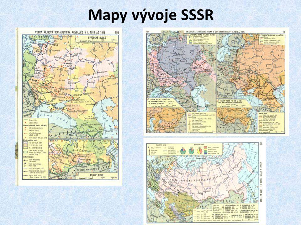 Mapy vývoje SSSR