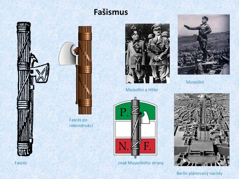 Fašismus Mussolini Mussolini a Hitler Fascés po rekonstrukci Fascés