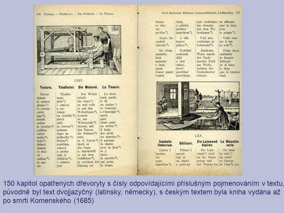 150 kapitol opatřených dřevoryty s čísly odpovídajícími příslušným pojmenováním v textu,